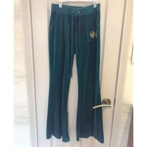 Juicy Couture Velour Teal Sweatpants